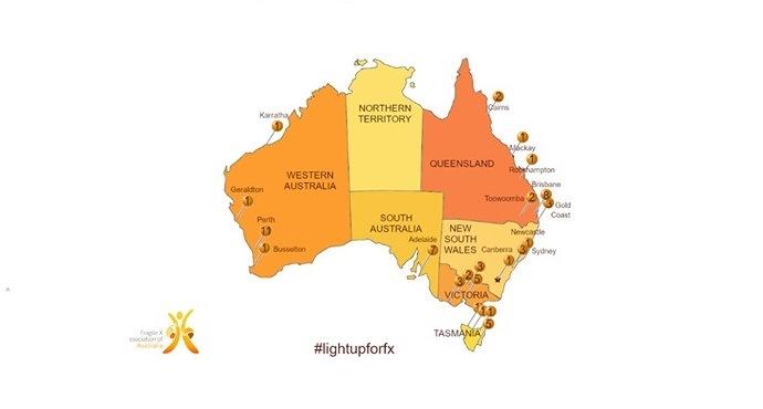 22 July: Australia lights up for Fragile X